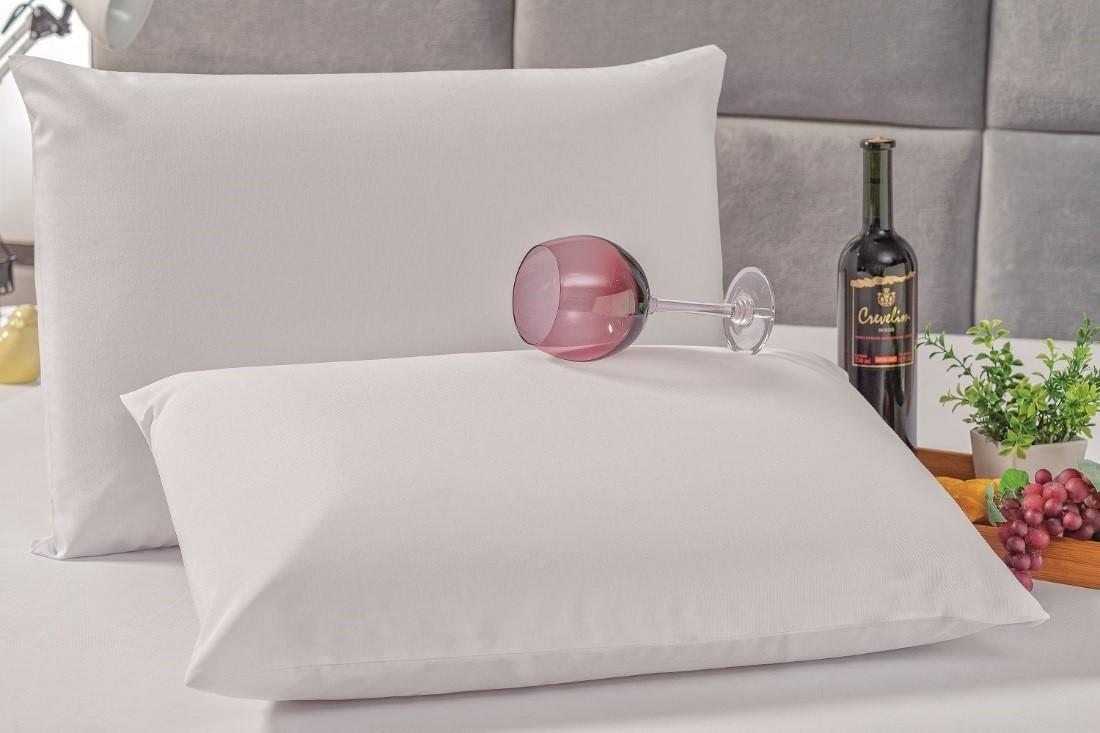 Kit 2 Fronhas para Travesseiro Protetora Impermeável Branca  - Rose Jordão