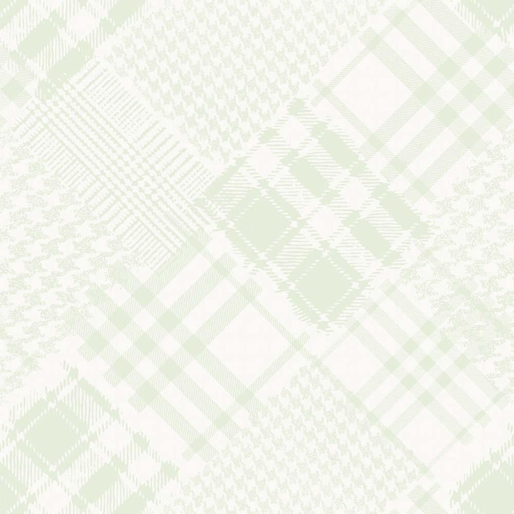 Papel de parede Pachwork xadrez Infantario Bobinex  - Gatinhando Quarto dos Sonhos
