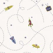 Papel de parede Naves espaciais Infantario Bobinex