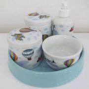 Kit de higiene em Louça (5 peças) - Balão