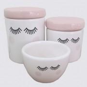 Kit de Higiene Cerâmica Cílios 3 peças