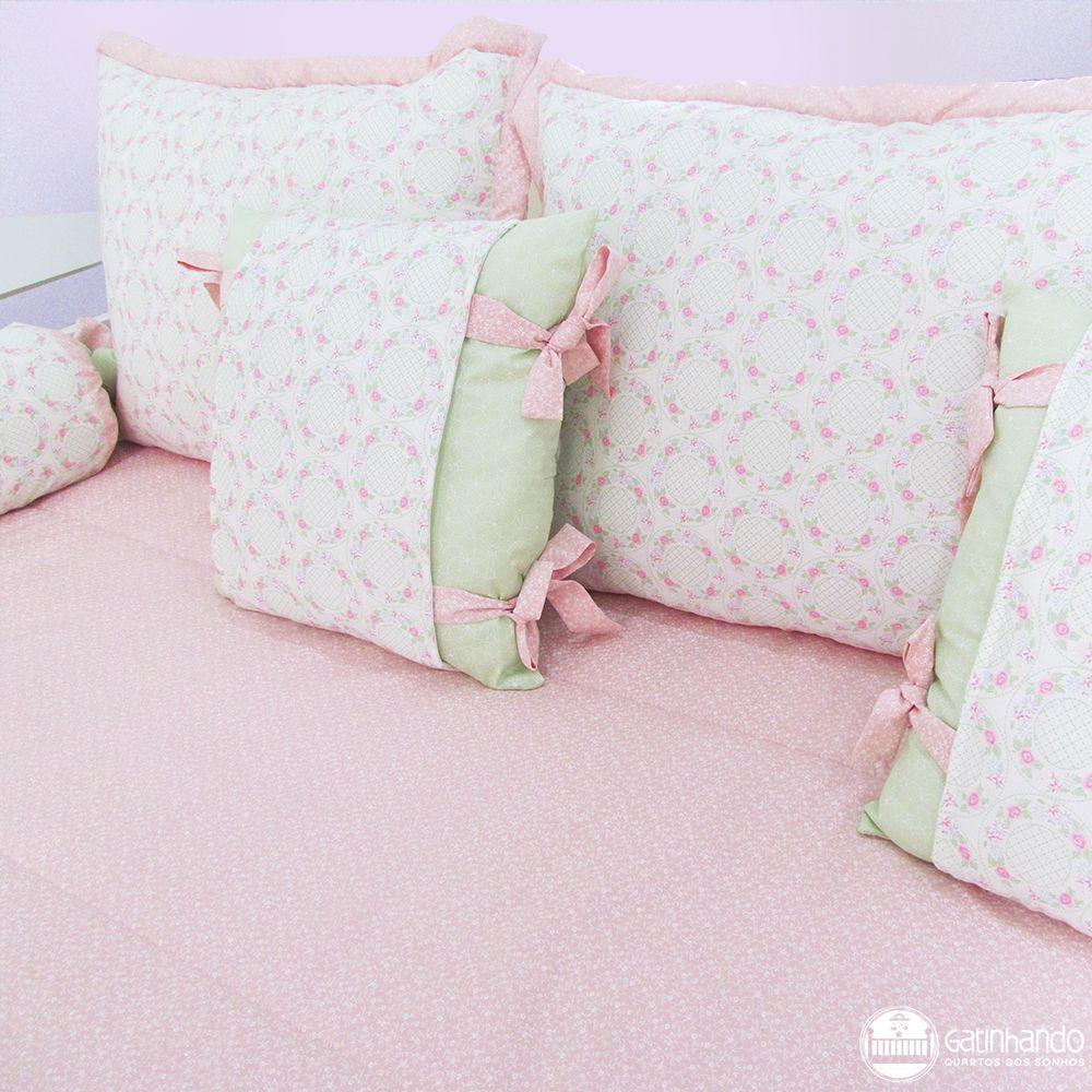 Kit cama auxiliar Floral  - Gatinhando Quarto dos Sonhos