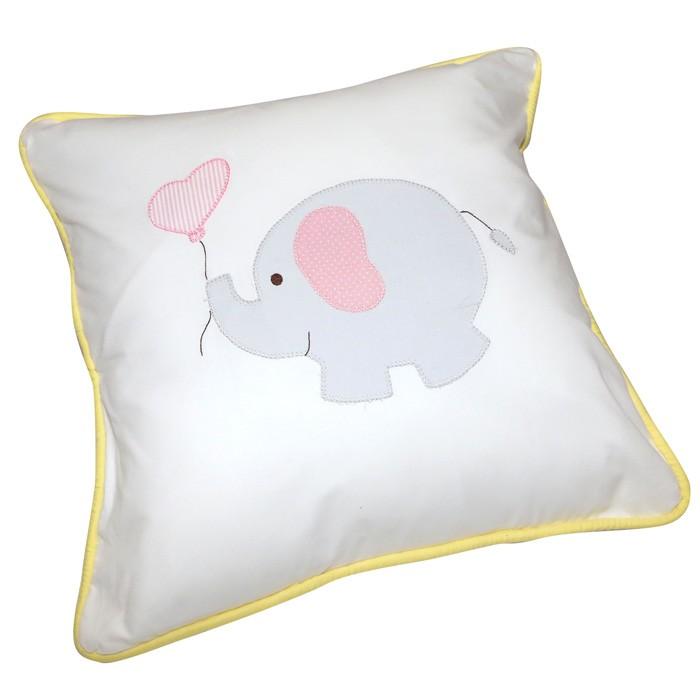 Almofada Elefante Lele 40 cm  x 40 cm  - Gatinhando Quarto dos Sonhos