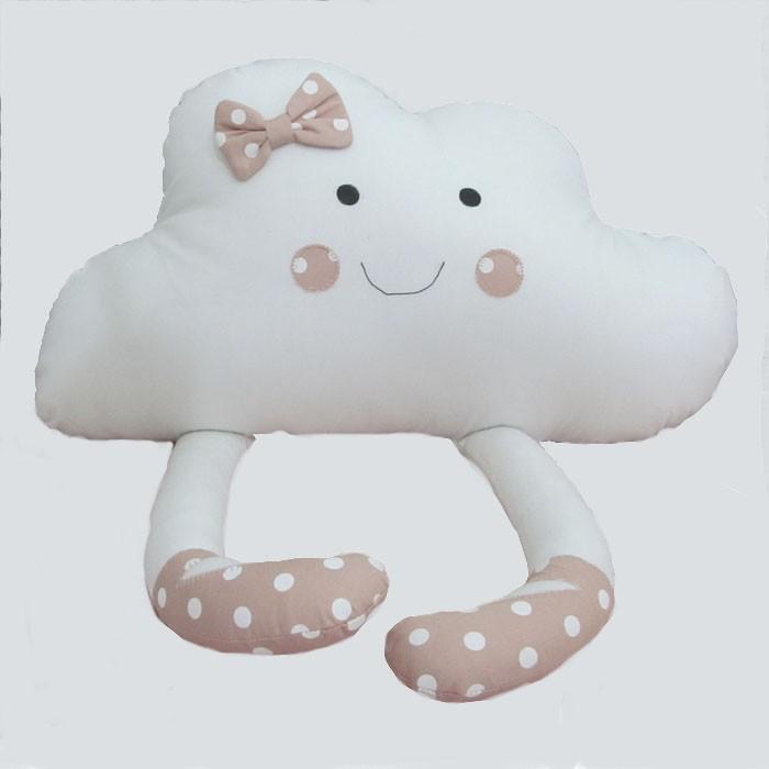Almofada de Nuvem com pernas  - Gatinhando Quarto dos Sonhos