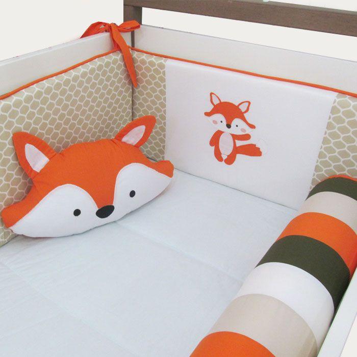 Almofada formato raposa   - Gatinhando Quarto dos Sonhos