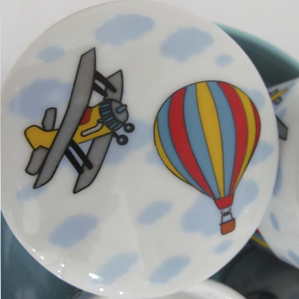 Kit de higiene em Louça (5 peças) - Balão  - Gatinhando Quarto dos Sonhos