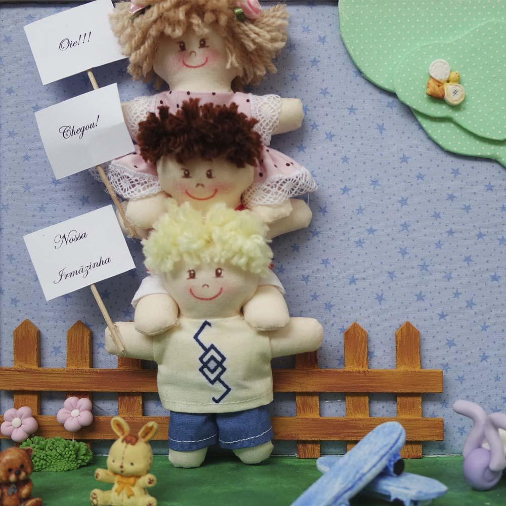 Enfeite de porta de maternidade Brincando no Jardim  - Gatinhando Quarto dos Sonhos