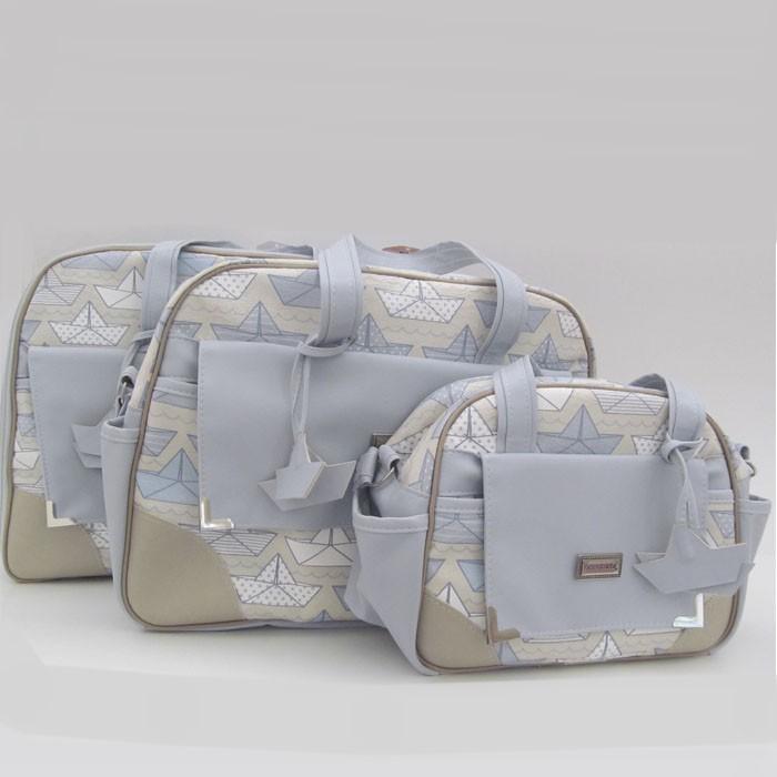 Kit bolsas 3 peças - Barquinho  - Gatinhando Quarto dos Sonhos
