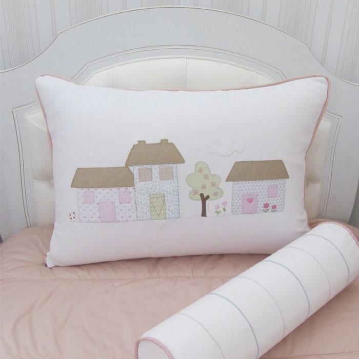Kit cama de solteiro Casinhas - 3 peças  - Gatinhando Quarto dos Sonhos