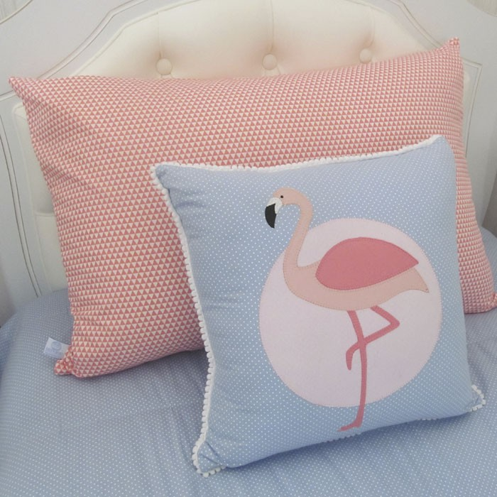 Kit cama de solteiro flamingo 3 peças  - Gatinhando Quarto dos Sonhos