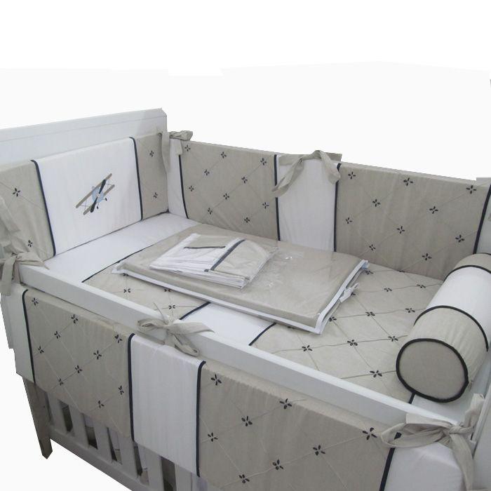 kit de berço avião II - 9 peças  - Gatinhando Quarto dos Sonhos