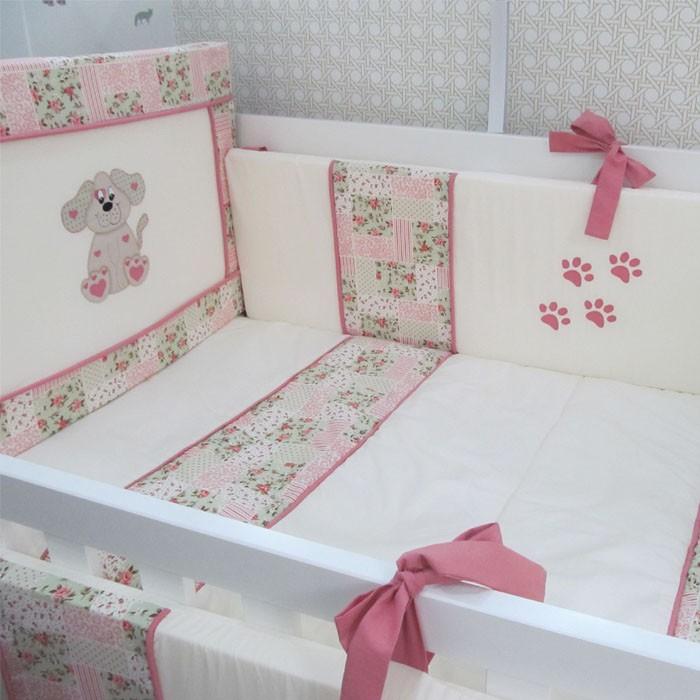 Kit de berço Cachorrinha Lady 9 pçs  - Gatinhando Quarto dos Sonhos
