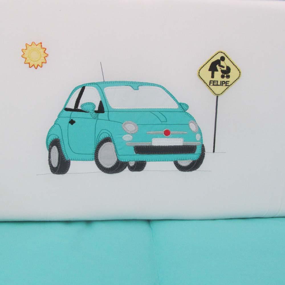 Kit de Berço carro personalizado 9 pçs  - Gatinhando Quarto dos Sonhos