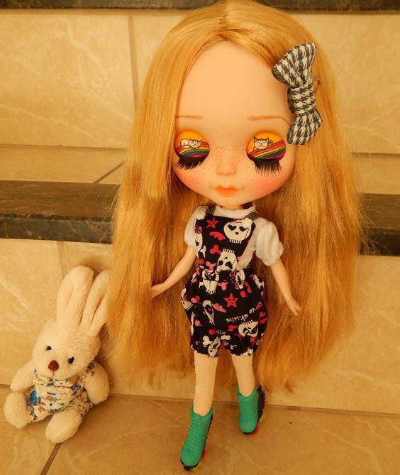 Jardineira de Short para Dolls  - CANTINHO DA MANDINHA