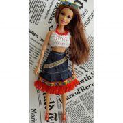 Conjunto de Saia e Blusa para Barbie - Pullip