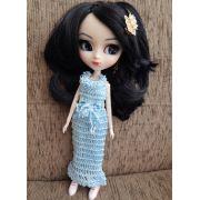 Vestido em Crochê para Pullip / Barbie