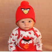 Touca Angry Birds para Bebê   ou Bebê Reborn