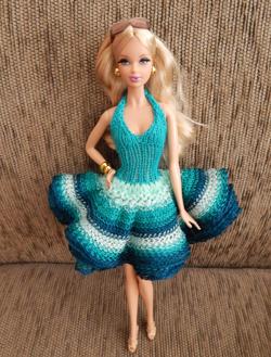 Vestido de Babado para Pullip e Barbie  - CANTINHO DA MANDINHA