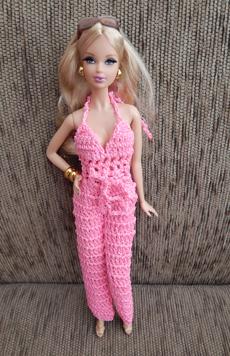 Macacão em Crochê para Pullip / Barbie  - CANTINHO DA MANDINHA