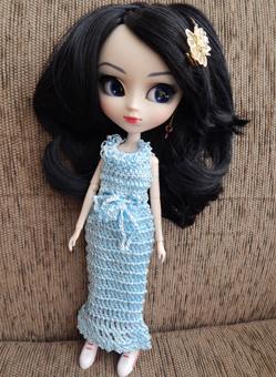 Vestido em Crochê para Pullip / Barbie  - CANTINHO DA MANDINHA