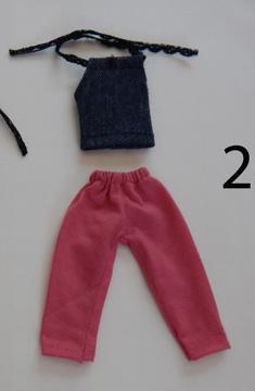 Conjunto de Calça Curta e Blusa para Barbie  - CANTINHO DA MANDINHA