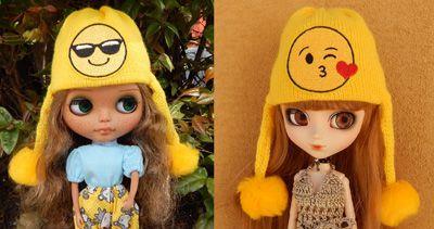 Touca Emoticons para Blythe e Pullip   - CANTINHO DA MANDINHA