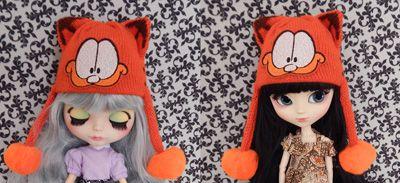 Touca Garfield para Blythe e Pullip   - CANTINHO DA MANDINHA