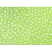 Placa Estrela Vazada Branca Fundo Verde Citrico 40x60cm