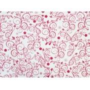 Placa Flor(9) Vermelho Fundo Branco  40x60cm