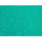 Placa Flor(9) Prata Fundo Verde  40x60cm
