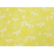 Placa Flor(5) Branca Fundo Amarelo 40x60cm