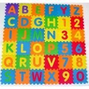 Tapete Alfanumérico Letras e Números