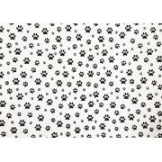 Placa Pata de Cachorro Preto Fundo Branco 40x60cm