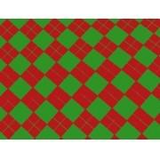 Placa Xadrez(3) Vermelho Fundo Verde 40x60cm