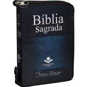 Bíblia Sagrada com Fonte de Bênçãos - Capa Cristal e Zíper - RA040LMFBZ