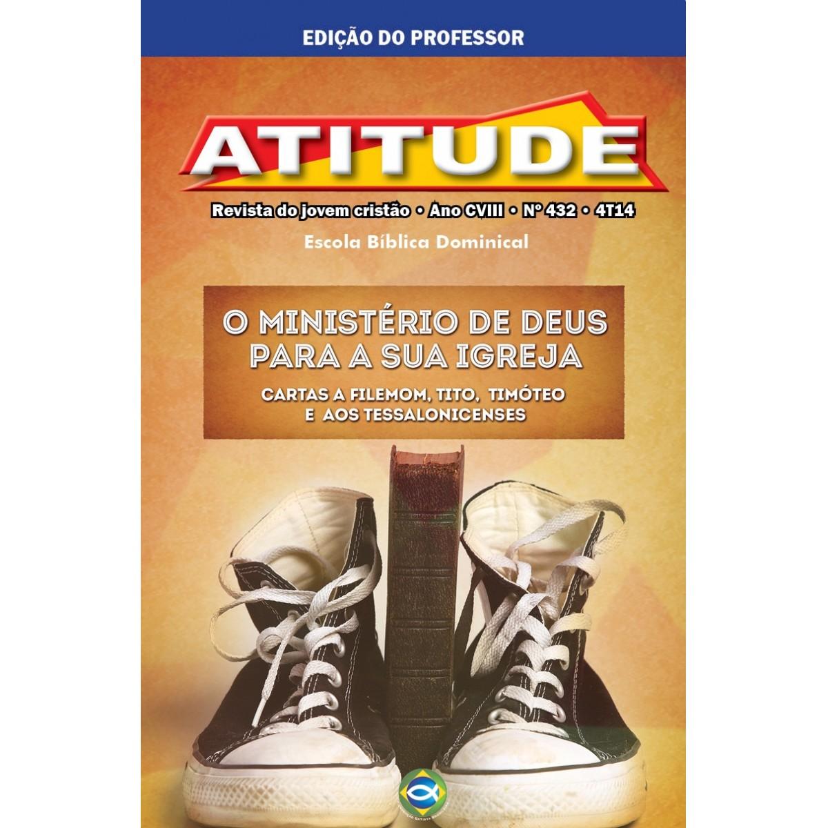Atitude (Professor) - 4º Trimestre 2014  - Distribuidora EBD
