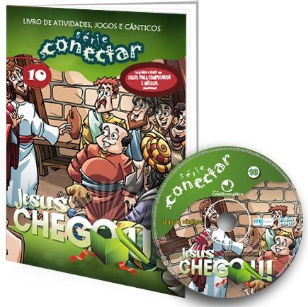 10 - Jesus chegou! (LIVRO/CD)  - Distribuidora EBD
