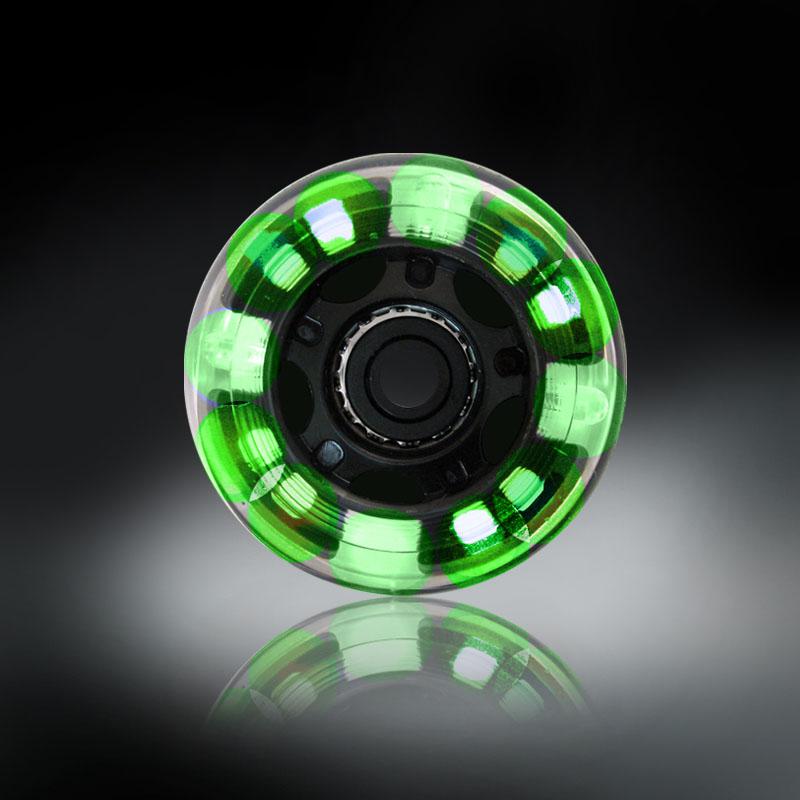 RODAS COM LUZES DE LED - VERDE - 76MM