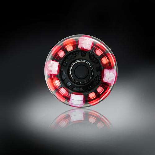 RODAS COM LUZES DE LED - VERMELHO - 64MM