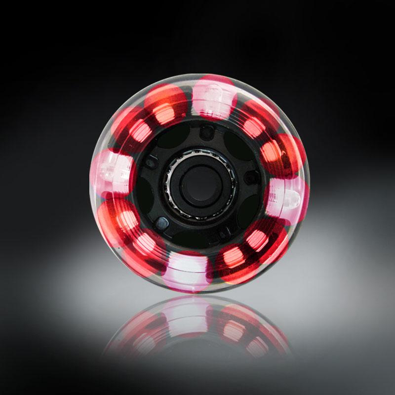 RODAS COM LUZES DE LED - VERMELHO - 76MM