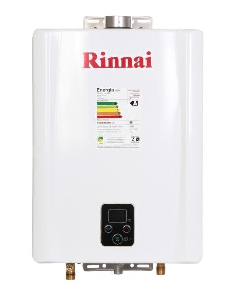 Aquecedor de água a gás Rinnai E 21 GN - 21 litros / min - Branco - ( Gás natural )