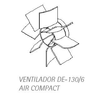 Ventilador / Helice Compressor  DE 130/6 Air Compact - FORA DE LINHA  - DABI ATLANTE - TOP ODONTO