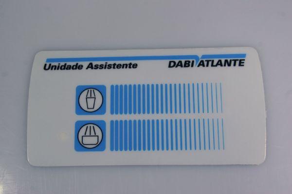 Etiqueta Painel Unidade (Sob Encomenda)  - DABI ATLANTE - TOP ODONTO
