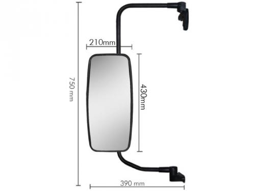 Conjunto Espelho Plano C/ Bifocal Convexo P/ MB 712C / 914C  - TERRA DE ASFALTO ACESSÓRIOS