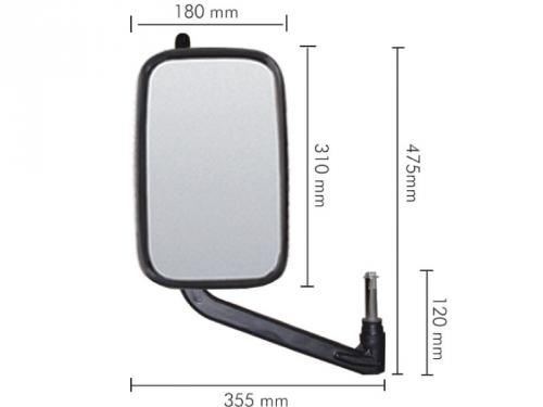 Conjunto Espelho Convexo P/ MB 709 / 912  - TERRA DE ASFALTO ACESSÓRIOS