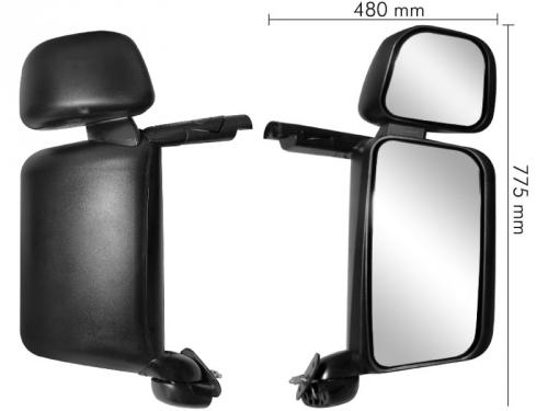 Conjunto Espelho Convexo LD P/ SC 124  - TERRA DE ASFALTO ACESSÓRIOS