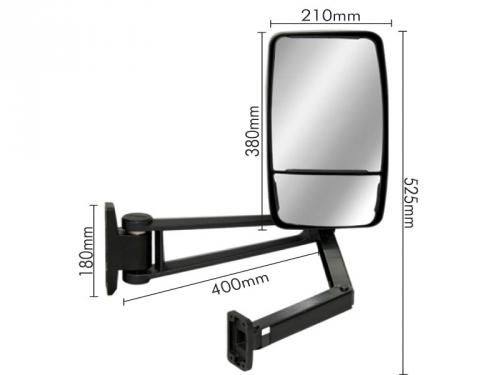 Conjunto Espelho Convexo/Bifocal LE P/ Ford Cargo 815E/816/1119  - TERRA DE ASFALTO ACESSÓRIOS
