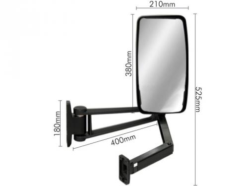 Conjunto Espelho Convexo LE P/ Ford Cargo 815E/816/1119  - TERRA DE ASFALTO ACESSÓRIOS
