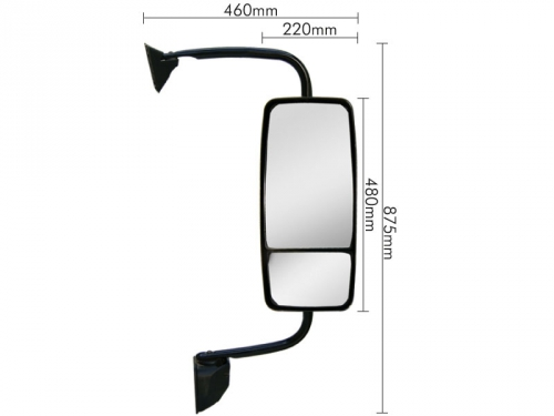 Conjunto Espelho Convexo/Bifocal LD P/ Ford Cargo 2011  - TERRA DE ASFALTO ACESSÓRIOS