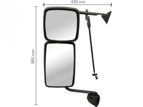 Conjunto Espelho Convexo LE P/ Ford Cargo (CC45/17682) 2013  - TERRA DE ASFALTO ACESSÓRIOS